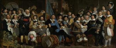Bartholomeus van der Helst Schuttersmaaltijd ter viering van de Vrede van Munster