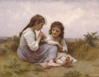 William-Adolphe Bouguereau A Childhood Idyll 1900