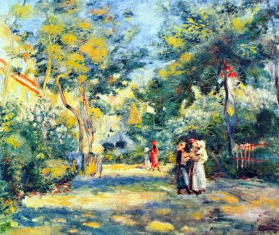 Pierre-Auguste Renoir A Garden in Montmartre