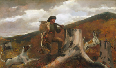 Winslow Homer A Hunter and his Dogs