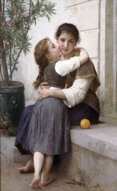 William-Adolphe Bouguereau A Little Coaxing 1890