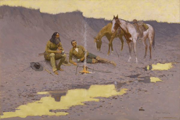 Frederic Remington A New Year on the Cimarron