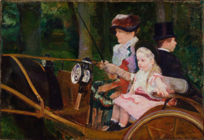 Mary Cassatt A Woman and a Girl Driving