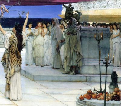 Lourens Alma Tadema A consecration of Bacchus
