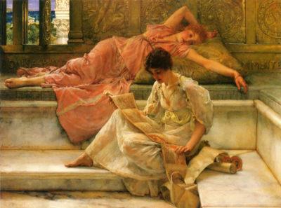 Lourens Alma Tadema A favorite poet