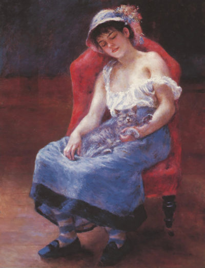 Pierre-Auguste Renoir A girl asleep