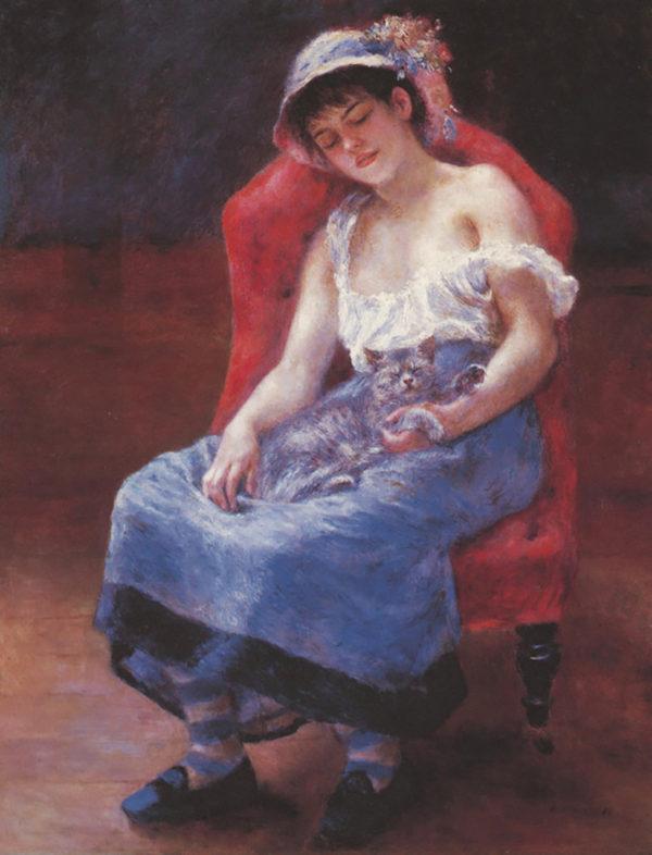 Pierre-Auguste Renoir A girl asleep