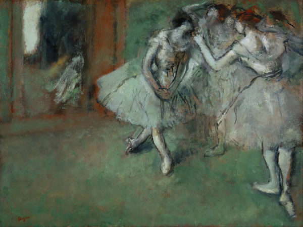 Edgar Degas A group of dancers