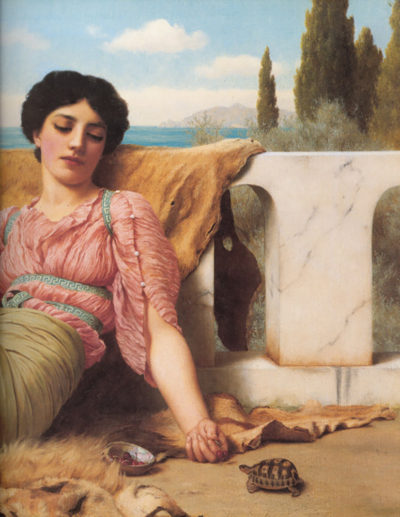 John William Godward A quiet pet