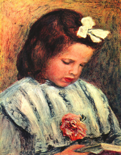 Pierre-Auguste Renoir A reading girl