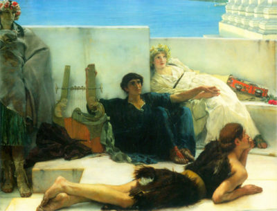 Lourens Alma Tadema A reading of Homer