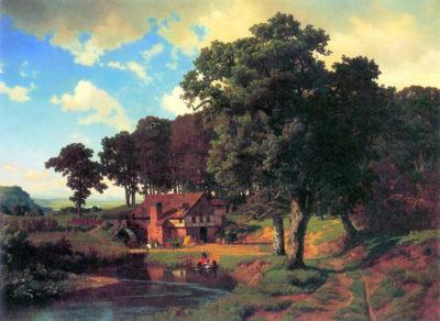 Albert Bierstadt A rustic mill