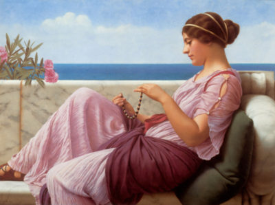 John William Godward A souveneer
