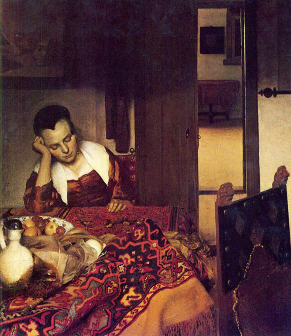 Johannes Vermeer A woman asleep