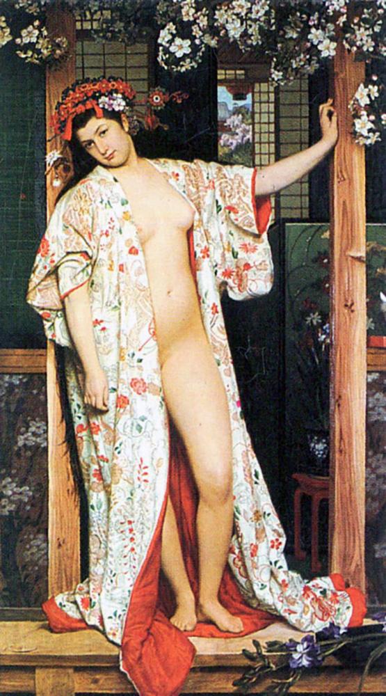 James Tissot A woman in Japan bath