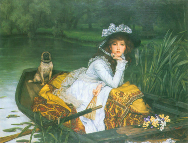 James Tissot A young woman in a boat
