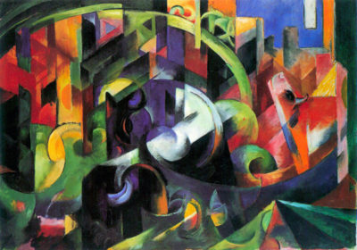 Franz Marc Abstract with cattle