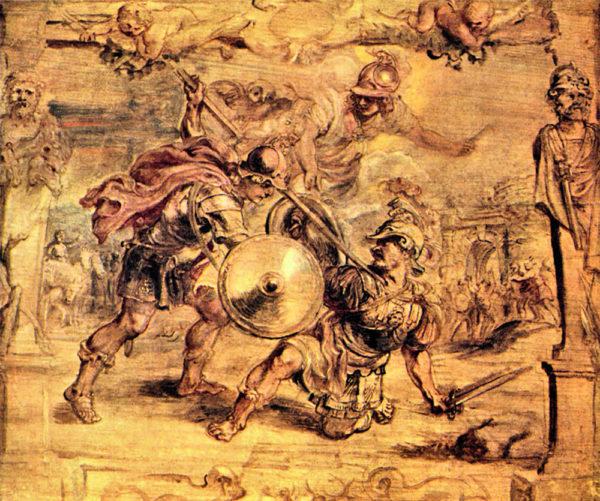 Peter Paul Rubens Achilles defeats Hector