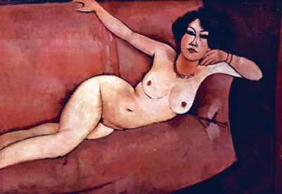 Amedeo Clemente Modigliani Act on a sofa (Almaiisa)