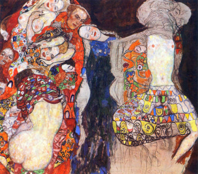 Gustav Klimt Adorn the bride with veil and wreath