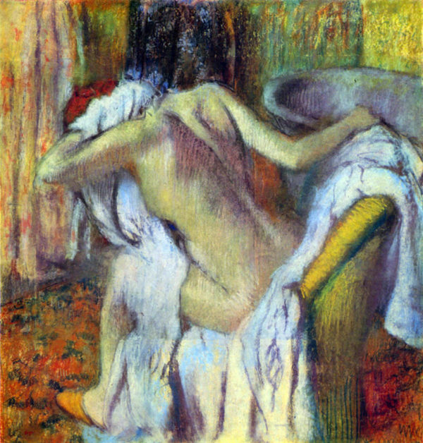 Edgar Degas After bathing