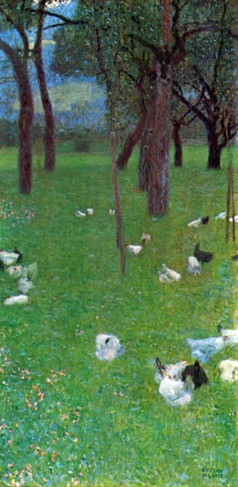 Gustav Klimt After the rain (garden with chickens in St. Agatha)