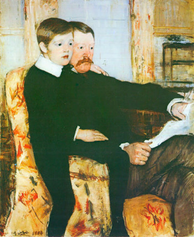 Mary Cassatt Alexander J. Cassat and son Robert Kelso Cassat