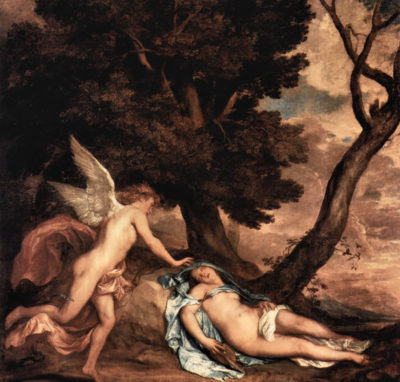 Antoon van Dyck Amour and Psyche
