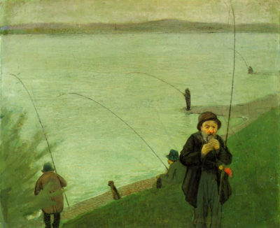 August Macke Anglers on the Rhine