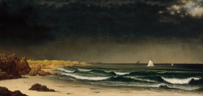Martin Johnson Heade Approaching Storm on Beach near Newport