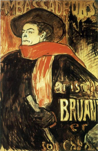 Henri de Toulouse-Lautrec Aristide Bruant Study