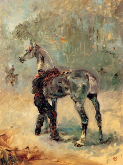 Henri de Toulouse-Lautrec Artilleryman and his horse
