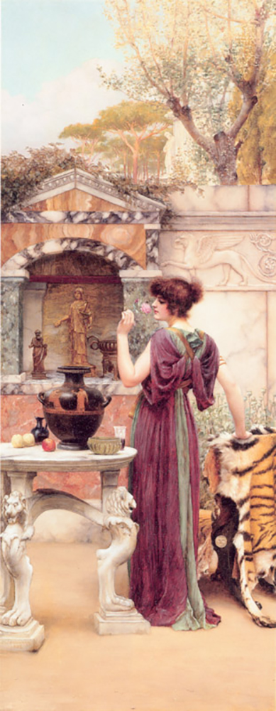 John William Godward At the Garden