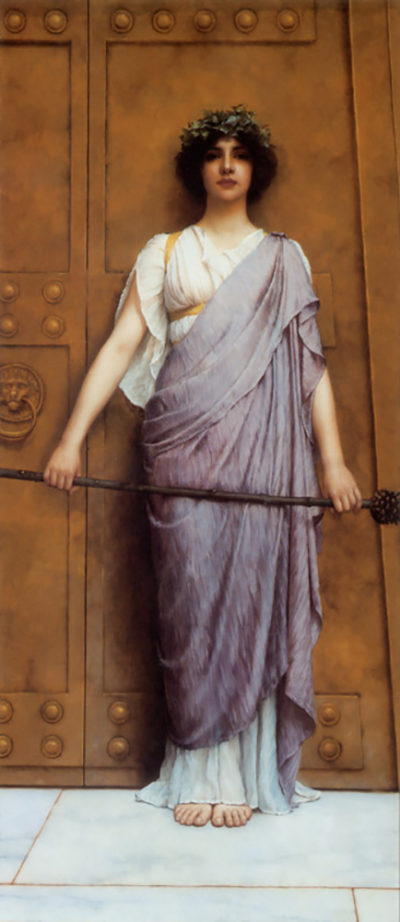 John William Godward At the Gate