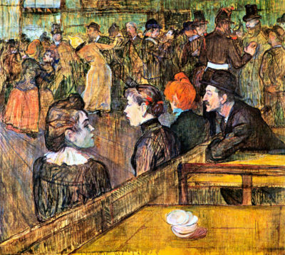Henri de Toulouse-Lautrec At the Moulin de la Gallette