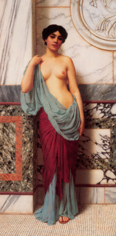 John William Godward At the Thermae