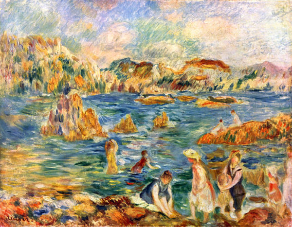 Pierre-Auguste Renoir At the beach of Guernesey