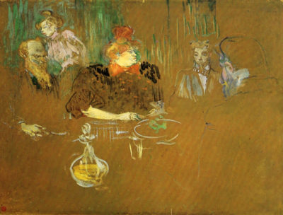Henri de Toulouse-Lautrec At the table