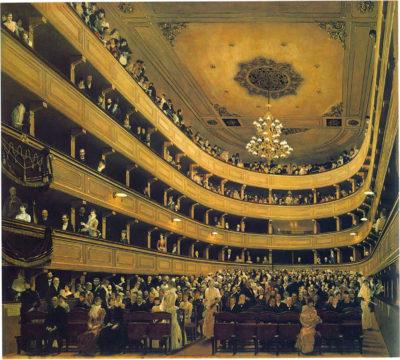 Gustav Klimt Auditorium in the Old Burgtheater in Vienna