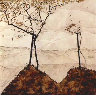 Egon Schiele Autumn sun and trees