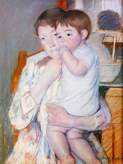 Mary Cassatt Baby on the arm of the mother