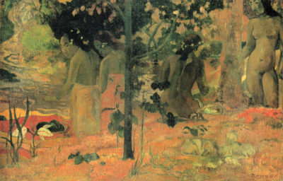 Paul Gauguin Badende
