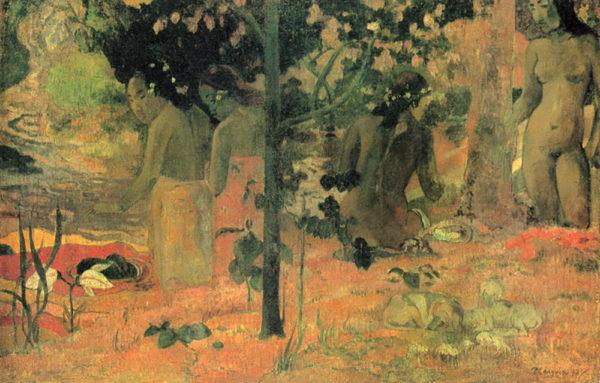 Paul Gauguin Badende