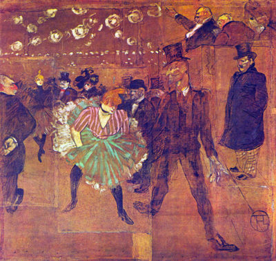 Henri de Toulouse-Lautrec Ball At Moulin-Rouge