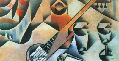 Juan Gris Banjo (guitar) and glasses