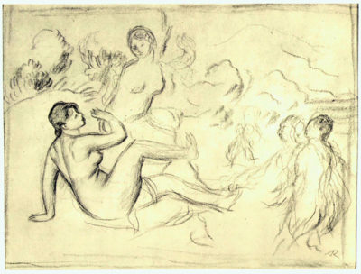 Pierre-Auguste Renoir Bather