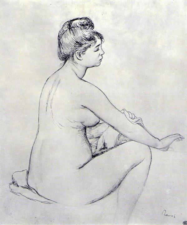 Pierre-Auguste Renoir Bather