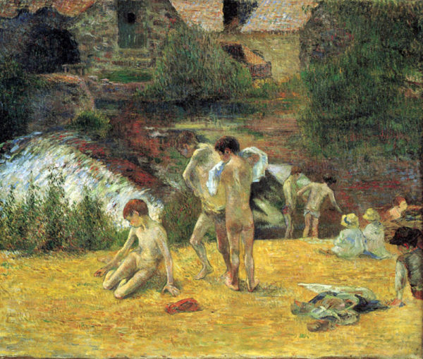 Paul Gauguin Bathing in the mill of Bois d'Amour