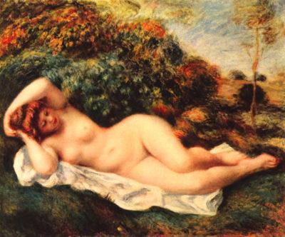 Pierre-Auguste Renoir Bathing sleeping the baker