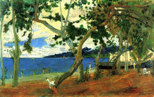 Paul Gauguin Beach Scene